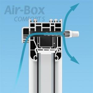 Airbox COMFORT S airbox-service.ru приточный клапан на окна и пластиковые ПВХ стеклопакеты отзывы купить Саратов Энгельс